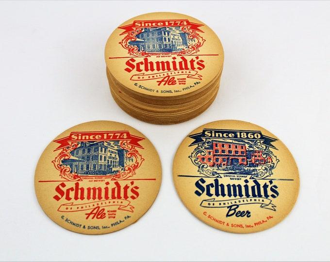 Vintage 1970s Schmidt's Beer Coasters