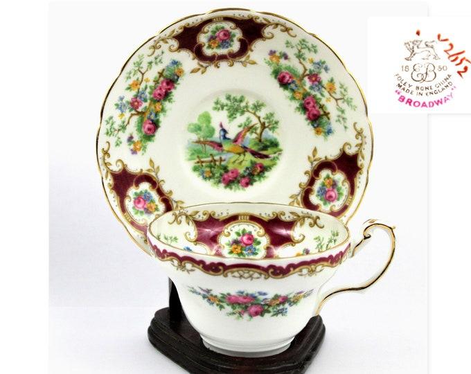 English Bone China, Teacup and Saucer, Foley China