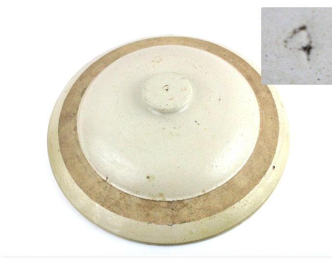 Antique Stoneware 4-Gallon Crock Lid