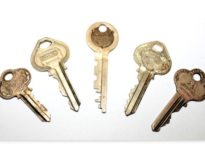 Old Vintage Keys, Eagle Lock Co, Sargent Locks, Russwin Locks, HMM Safe Co