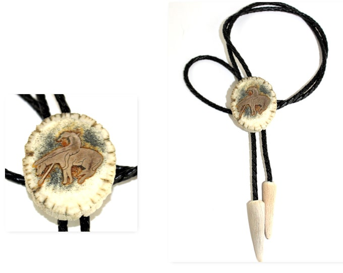 Vintage End of the Trail Western Bolo Tie, Fashion Bolo Tie