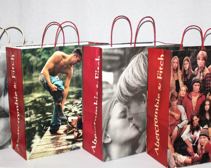 Vintage Shopping Bags / Four Abercrombie and Fitch Shopping Bags / Urban Decor