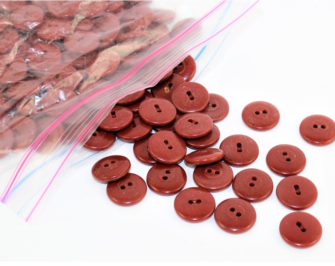 """Vintage 3/4"""" Rust-Colored Buttons, Retro Buttons"""