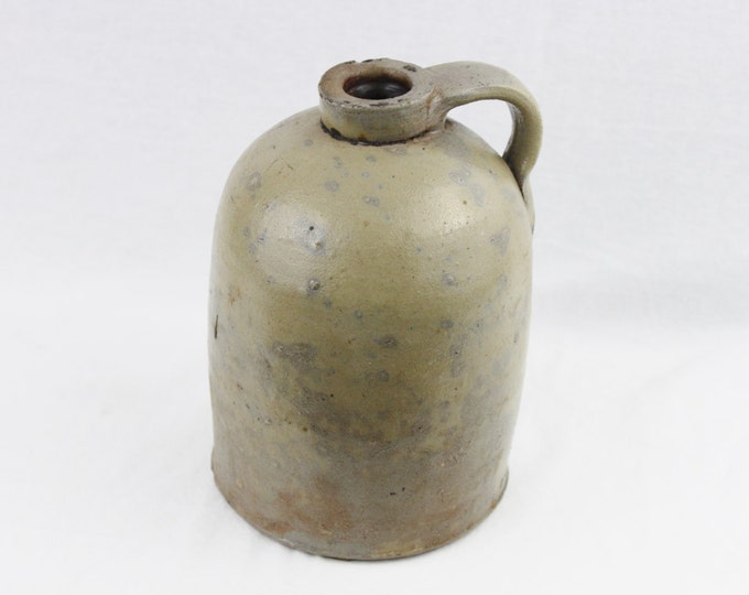 Antique Stoneware Half Gallon Crock Jug