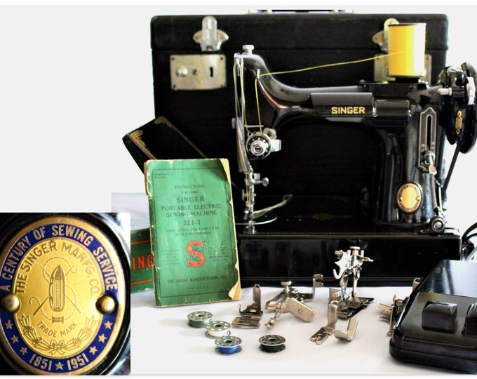Centennial Edition, Singer 221  Featherweight Sewing Machine, Singer Featherweight, Precision Sewing