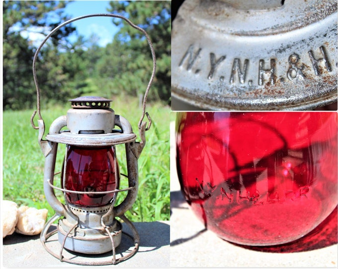 Railroad Memorabilia / 1933 Dietz Vesta / Railroad Lantern / NYNH&H / New York, New Haven and Hartford Railroad