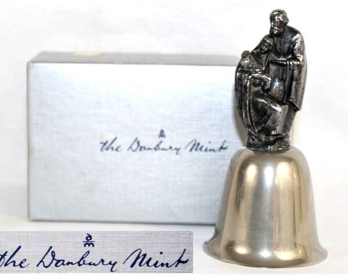 1984 Nativity Bell from the Danbury Mint, Christmas Bell