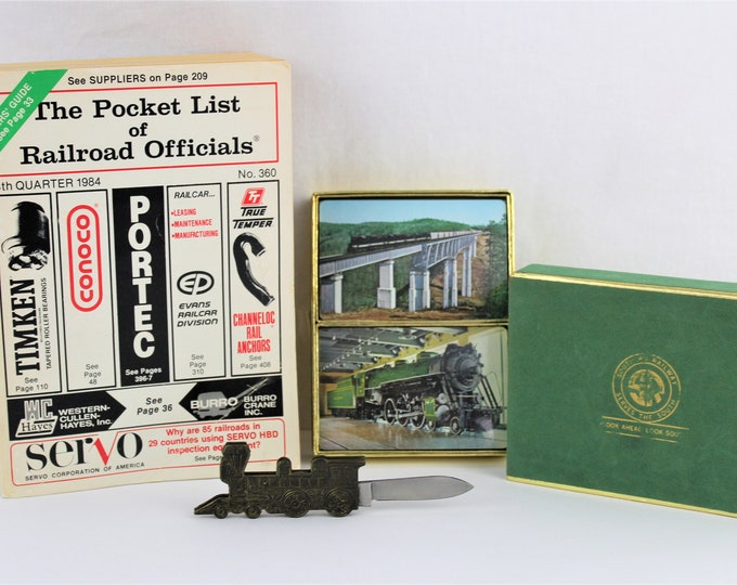 Railroad Memorabilia / Vintage Railroad / Train Enthusiast