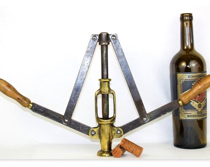 Antique Wine Tool, Handheld Double Lever, Wine Bottle Corker, Wine Making Tools