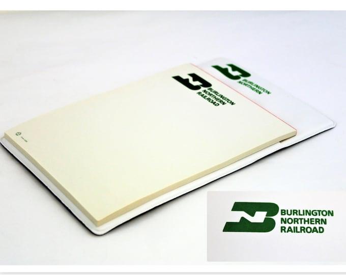 Vintage Notepad, Burlington Northern Railroad, Railroad Memorabilia, 1960s, Railroadiana