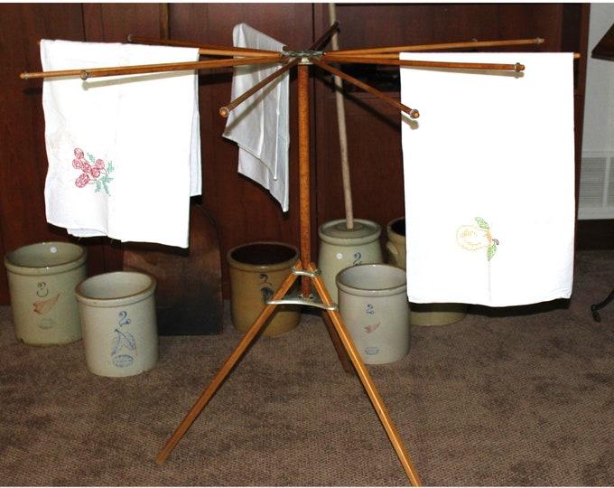 Antique Art Moore Company Umbrella Drying Rack, Cloths Drying Rack