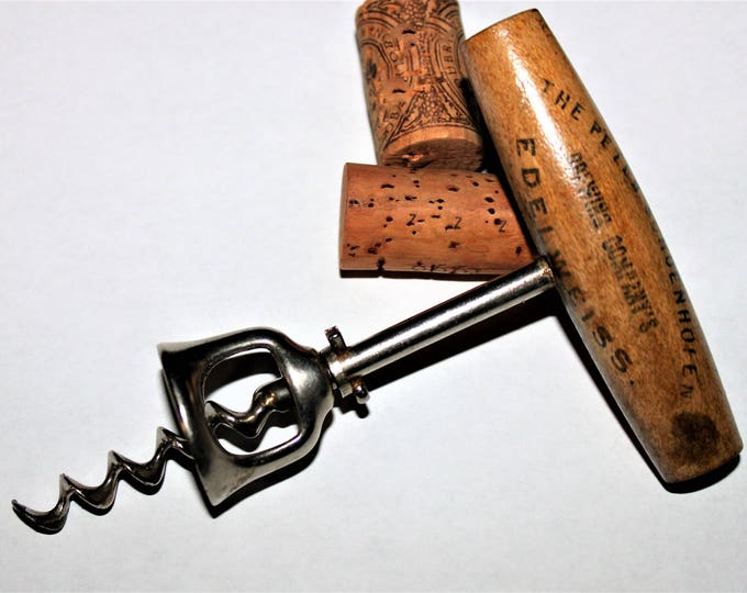 Antique Breweriana, 1890s Schoenhofen Brewing Co, Edelweiss Beer, Antique Corkscrew