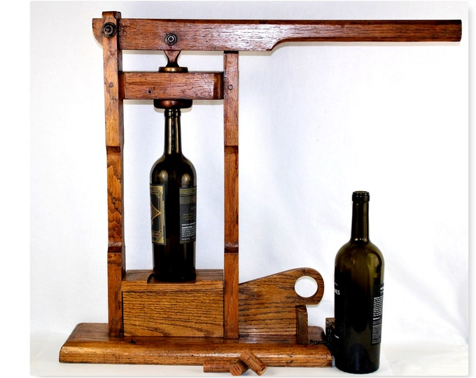 Antique Wine Bottle Corker, Cork Inserter, Wine Making Tools, Winery Display