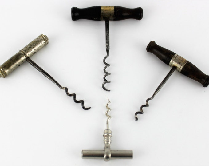Antique Collection of 1885 American Designed Edward Haff  Corkscrews