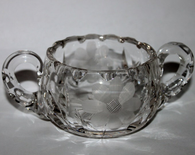 Vintage Lead Crystal Sugar Bowl