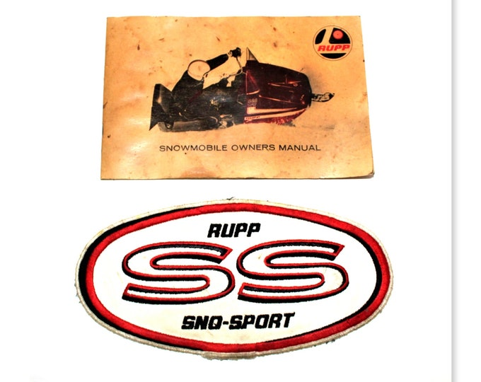 1970s Rupp Snowmobile, WT 440 Owner's Manual, Rupp SS  Sno-Sport, Embroidered Patch