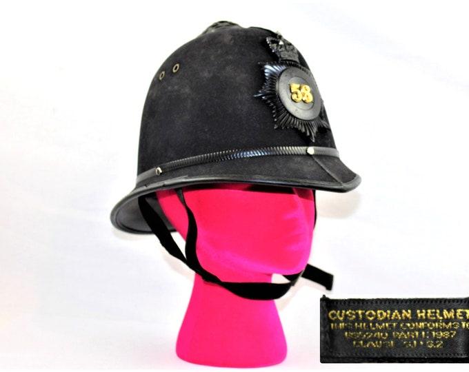 Vintage Police / English Bobbie Helmet / Englich Police Officer / Police Memorabilia