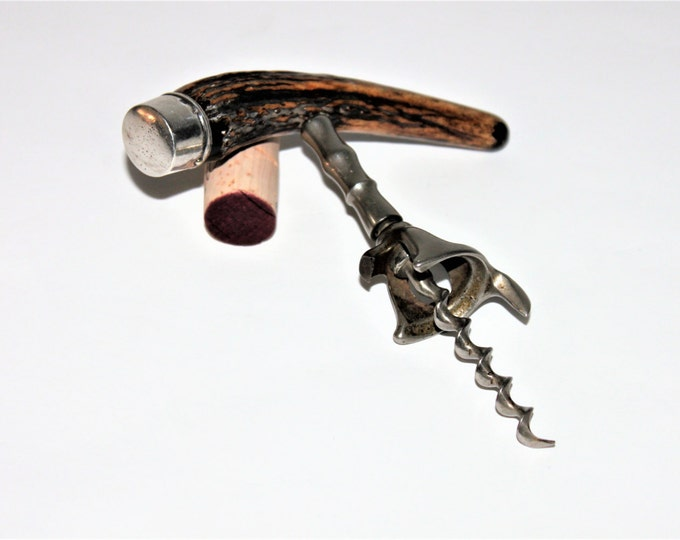Antique Barware, Edwin Walker, Stag Horn Corkscrew, Wine Opener, Antique Corkscrew