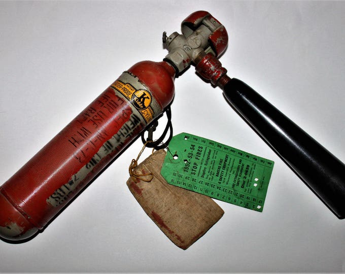 Vintage WWII 1943 Kidde CO2  7LBS Life Raft Fire Extinguisher, Rare Naval Life Raft Fire Extinguisher