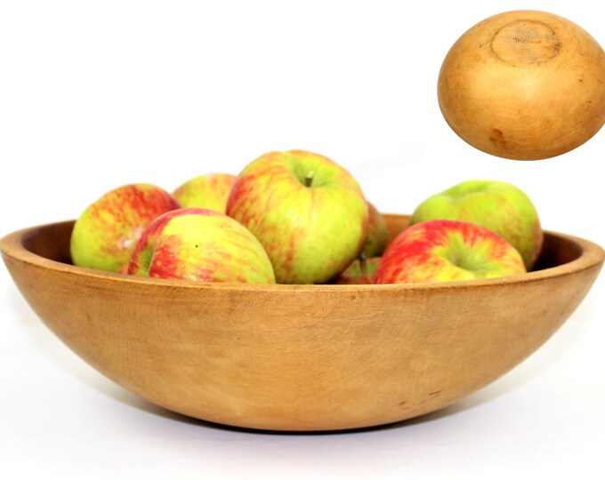 Vintage Dough Bowl / Thurnauer Wood Dough Bowl / Solid Maple Hardwood
