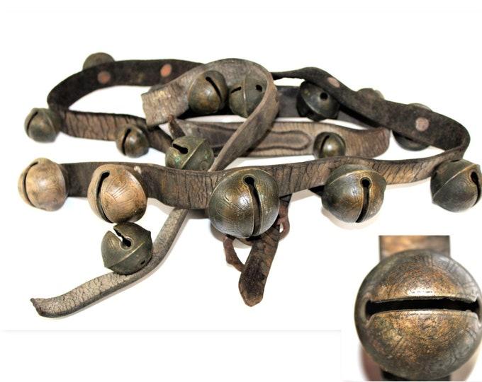 20 Antique Sleigh Bells / Sleigh Bells / Peddle Bells / Brass Sleigh Bells