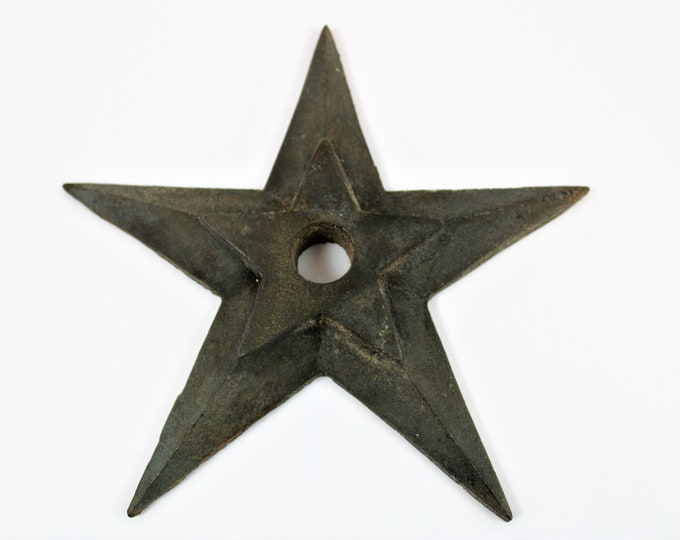 Architectural Star / Cast Iron Building Star / Industrial Decor