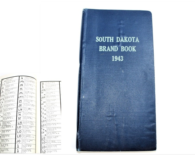 1943 South Dakota Brand Book, Livestock Brand Book, Cattle Branding Iron