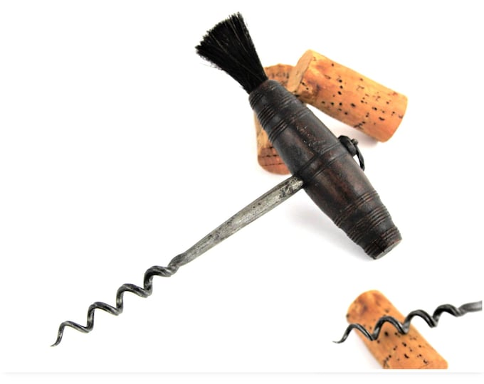 Antique Corkscrew, 1800s English Rosewood Handle Corkscrew, Wine Opener