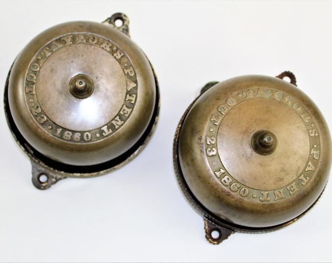 Antique Doorbells, Hand Crank Doorbells, Victorian Brass Doorbell