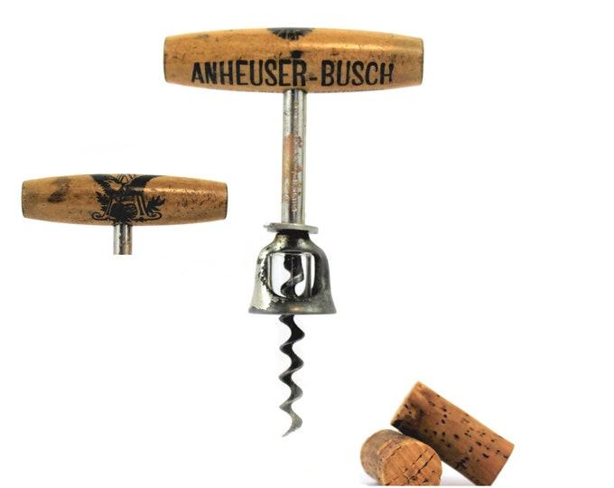 Antique Corkscrew / 1897 Anheuser Busch Beer Corkscrew