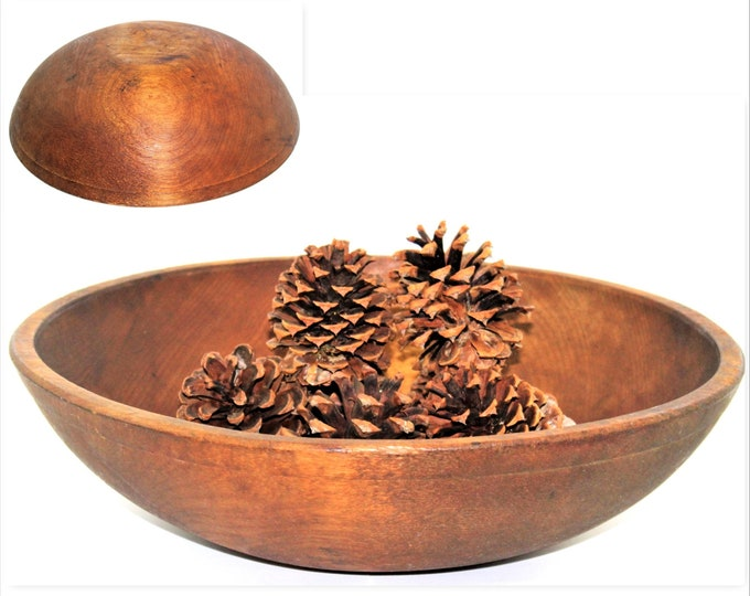 "Large 16"" Antique Dough Bowl / Large  Wood Bowl / Solid Maple / Center Piece Bowl / Entry Table Decor"