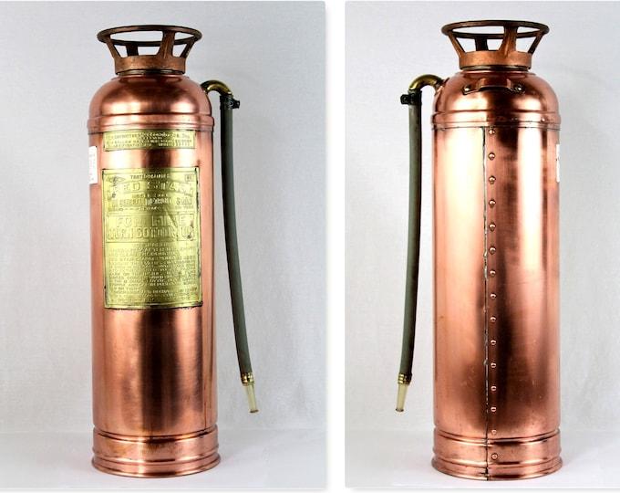 Vintage Red Star Fire Extinguisher, Firefighting Memorabilia, Fire Extinguisher