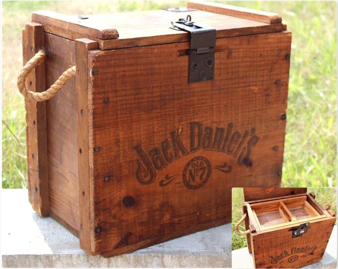 Vintage Wood Crate / Jack Daniels Wood Crate / Storage Crate