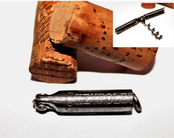 Antique Dainty Advertising Folding Corkscrew, Miniature Corkscrew, CHEVROLET