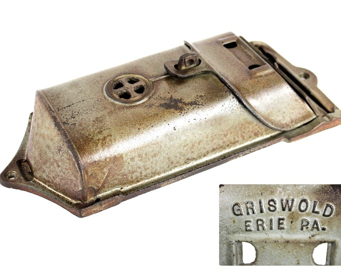 1930s Griswold Cast Iron Wall Hanging Mailbox, Vintage Mailbox