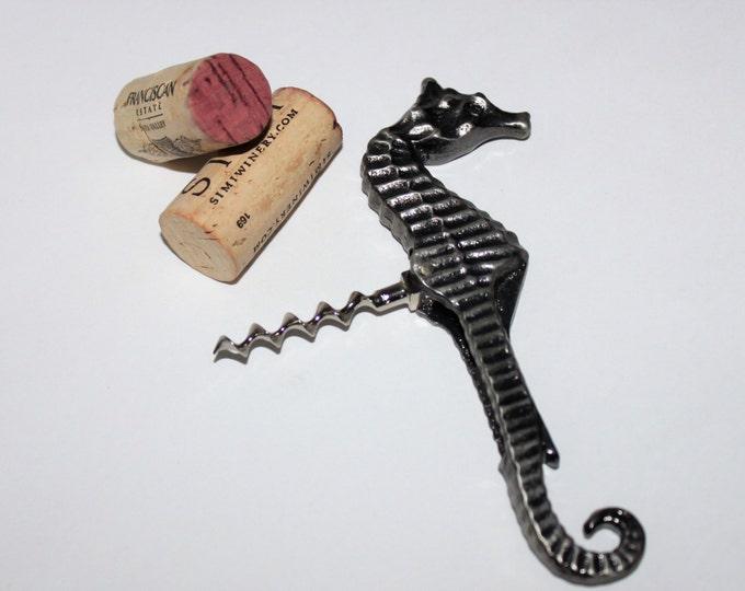 Vintage Corkscrew, 1980s Figural Seahorse Corkscrew