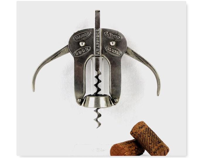 Antique Corkscrew / English Magic Lever Cork Drawer / Corkscrew / Wine Bottle Opener