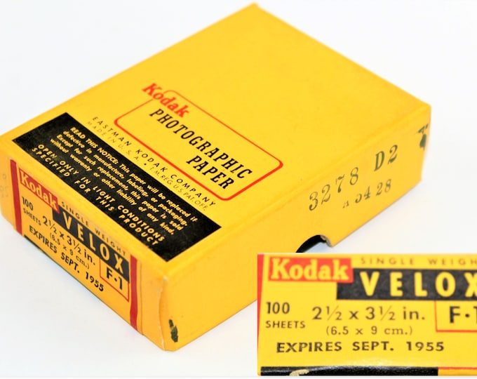 Vintage 1955 Eastman Kodak Photographic Paper