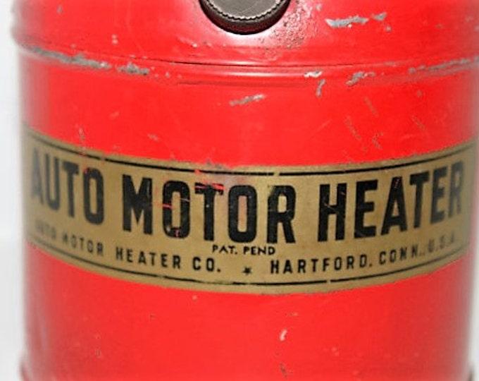 Vintage Auto Motor Heater, 1940s Car Motor Heater