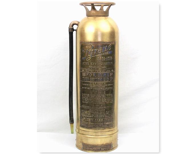 Pyrene Fire Extinguisher / Brass Fire Extinguisher / Large Fire Extinguisher