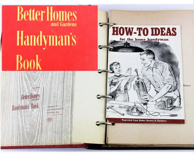 Vintage Self Help Book, First Edition, Better Homes and Gardens, Handyman's Book, 1951