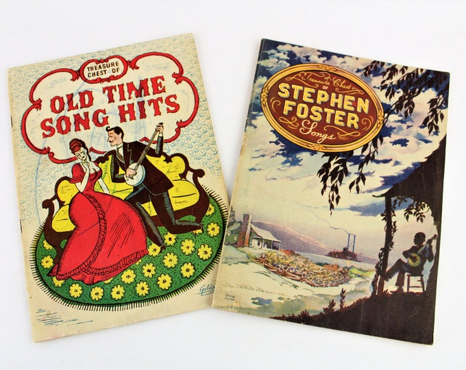 Vintage Treasure Chest Song Books,  1935 Old Time Song Hits,  1940 Stephen Foster Songs