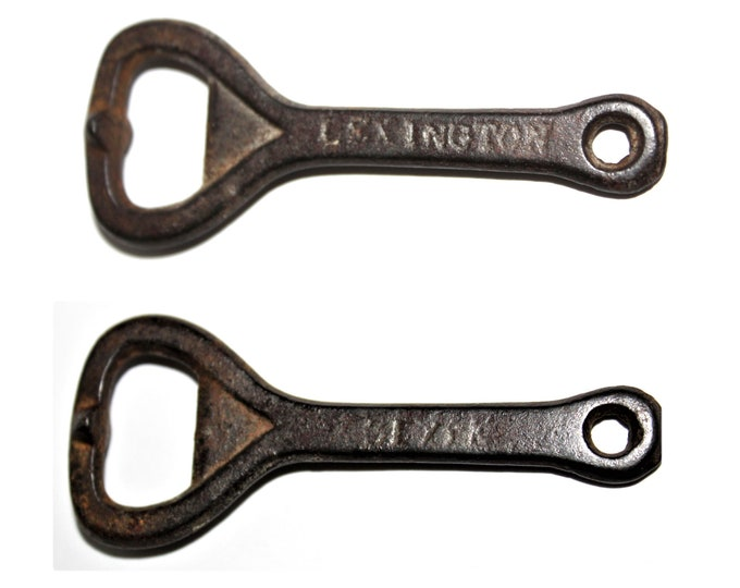 Antique Lexington Dixie Beer Cast Iron Bottle Opener, Breweriana