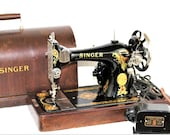 Antique Sewing Machine, 1924 Singer 128-13, Portable Sewing Machine