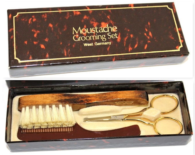 Vintage Barber / Moustache Grooming / Mens Grooming Set / Solingen West Germany