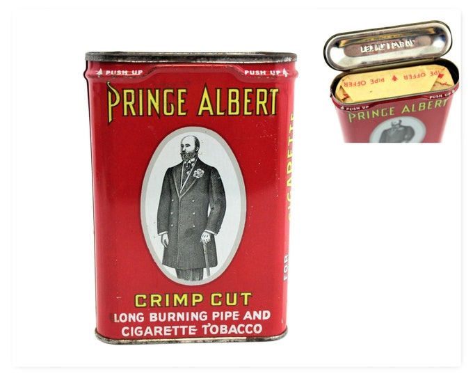 Vintage Prince Albert Crimp Cut Smoking Tobacco Tin NOS