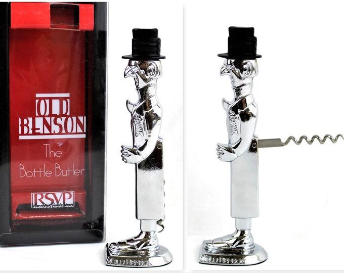 Vintage Old Benson Figural Corkscrew & Bottle Opener, Wine Bottle Opener