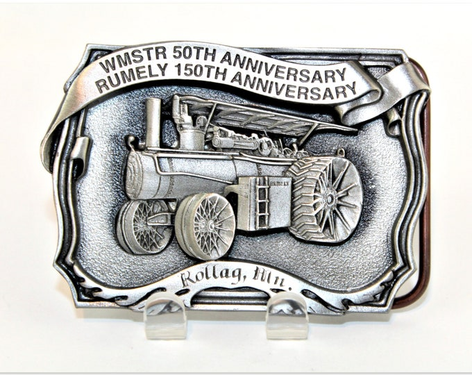 Commemorative Anniversary Belt Buckle,  50th WMSTR,  150th Rumely Tractor