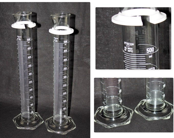 Vintage Apothecary / 500ml PYREX Graduated Cylinder / Mad Science