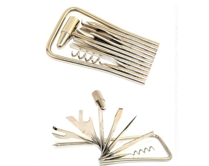 1949 Louis Strauss Utility Tool Kit with Corkscrew, Travel Corkscrew